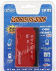 Картридер Microsonic CR82 57-in-1 внешний, красно-